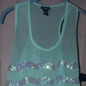 Rue21 size small shimmer tank